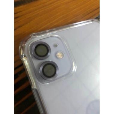 Защитное стекло на камеру iPhone 11, фиолетовая мет. рамка KR - 1шт., фото №2, добавлено пользователем