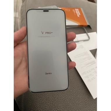 """Матовое защитное стекло 3D на iPhone 12/12 Pro (6,1"""") Vpro 0,3 мм черная рамка, фото №2, добавлено пользователем"""