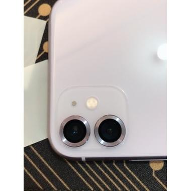 Сапфировое защитное стекло на камеру iPhone 11, фиолетовая мет. рамка DR - 1шт., фото №3, добавлено пользователем