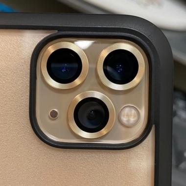 Защитное стекло на камеру iPhone 11 Pro/11 Pro Max, мет. рамка KR (Gold) - 1 шт., фото №7, добавлено пользователем