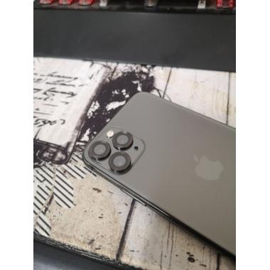 Сапфировое защитное стекло на камеру iPhone 11 Pro/11 Pro Max,  мет. рамка DR (Gray) - 1шт., фото №2, добавлено пользователем