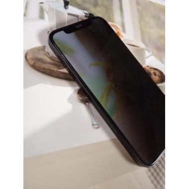 "Приватное (anti-spy) 3D защитное стекло на iPhone 12 Mini (5,4"") Vpro 0,3 мм черная рамка, фото №6, добавлено пользователем"