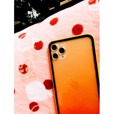 Сапфировое защитное стекло на камеру iPhone 11 Pro/11 Pro Max, мет. рамка DR (Gold) - 1шт., фото №3, добавлено пользователем