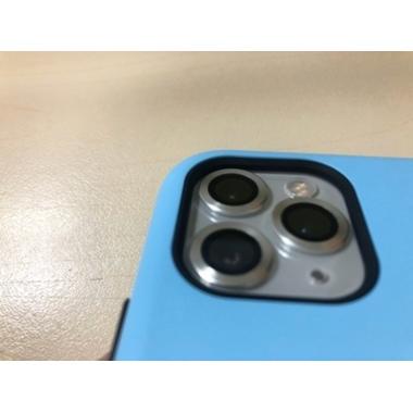 Сапфировое защитное стекло на камеру iPhone 11 Pro/11 Pro Max, мет. рамка DR (Silver) - 1шт., фото №5, добавлено пользователем