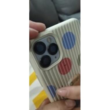Сапфировое защитное стекло на камеру iPhone 11 Pro/11 Pro Max,  мет. рамка DR (Gray) - 1шт., фото №5, добавлено пользователем