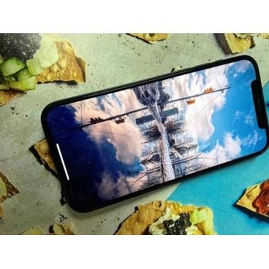Приватное 3D защитное стекло на iPhone 12 Pro Max Vpro 0,3 мм черная рамка, фото №4, добавлено пользователем