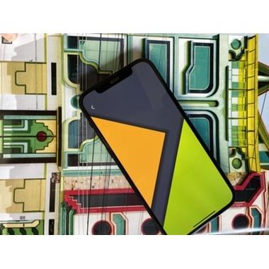 "Защитное стекло 3D на iPhone 12/12 Pro (6,1"") Vpro (green light) 0,3 мм черная рамка, фото №3, добавлено пользователем"