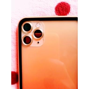 Сапфировое защитное стекло на камеру iPhone 11 Pro/11 Pro Max, мет. рамка DR (Gold) - 1шт., фото №2, добавлено пользователем