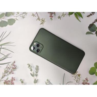 Чехол для iPhone 11 Pro Max 0,4 mm - темно-зеленый LolliPop, фото №5, добавлено пользователем