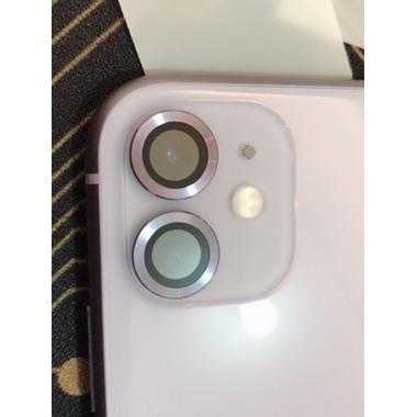 Сапфировое защитное стекло на камеру iPhone 11, фиолетовая мет. рамка DR - 1шт., фото №2, добавлено пользователем