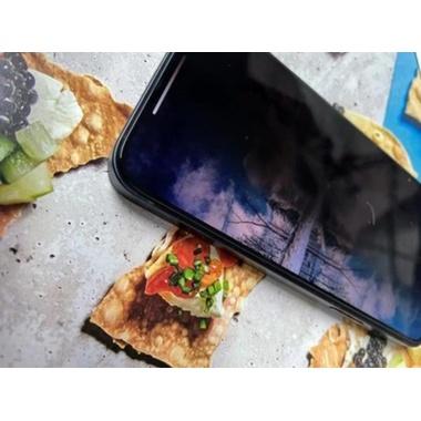 Приватное 3D защитное стекло на iPhone 12 Pro Max Vpro 0,3 мм черная рамка, фото №5, добавлено пользователем