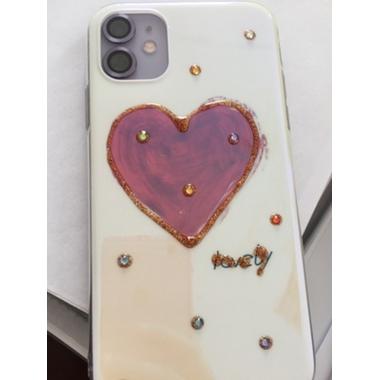 Защитное стекло на камеру iPhone 11, фиолетовая мет. рамка KR - 1шт., фото №4, добавлено пользователем