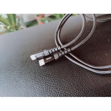 Type C - Lightning MFI кабель для iPhone/iPad/iPod - 120 см черный, фото №4, добавлено пользователем