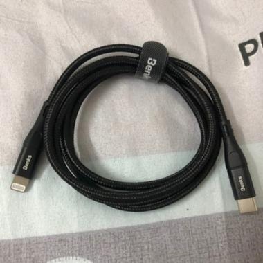 Type C - Lightning MFI кабель для iPhone/iPad/iPod - 120 см черный, фото №9, добавлено пользователем