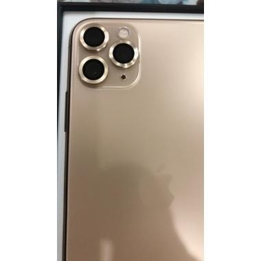 Защитное стекло на камеру iPhone 11 Pro/11 Pro Max, мет. рамка KR (Gold) - 1 шт., фото №3, добавлено пользователем