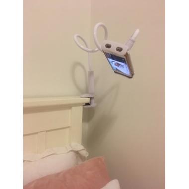 Гибкий универсальный металлический держатель для телефона (смартфона) на штанге 880 мм, 360°, фото №2, добавлено пользователем