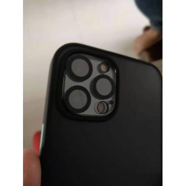 """Защитное стекло на камеру для iPhone 12 Pro (6,1"""") с черным кантом - 1шт., фото №2, добавлено пользователем"""