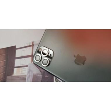 Защитное стекло на камеру iPhone 11 Pro/11 Pro Max, мет. рамка KR (Silver) - 1 шт., фото №4, добавлено пользователем