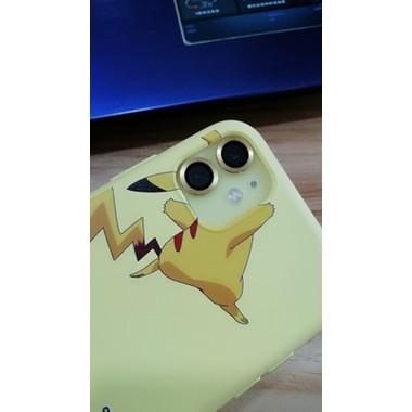 Защитное стекло на камеру iPhone 11, желтая мет. рамка KR - 1шт., фото №3, добавлено пользователем