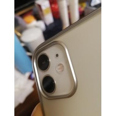 Защитное стекло на камеру iPhone 11, белая рамка KR - 2шт., фото №6, добавлено пользователем