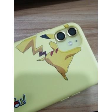 Защитное стекло на камеру iPhone 11, желтая мет. рамка KR - 1шт., фото №2, добавлено пользователем