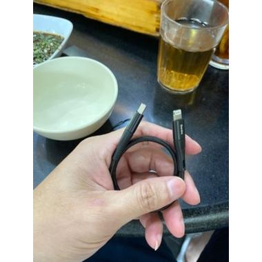Lightning USB кабель черный, 25 см - Chidian, фото №2, добавлено пользователем