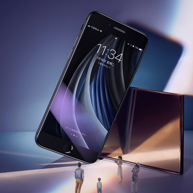 Benks Защитное стекло на iPhone SE 2020/7/8 Черное 3D AntiBlue, фото №7