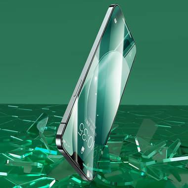 """Защитное стекло 3D на iPhone 13/13Pro (6,1"""") Vpro Green Light 0,3 мм черная рамка, фото №3"""