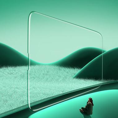 """Защитное стекло 3D на iPhone 13/13Pro (6,1"""") Vpro Green Light 0,3 мм черная рамка, фото №5"""