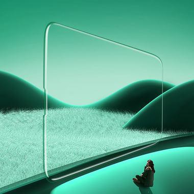 """Защитное стекло на iPhone 13 mini (5,4"""") KR Green Light - 0.15 мм.  2.5D скругление, фото №1"""