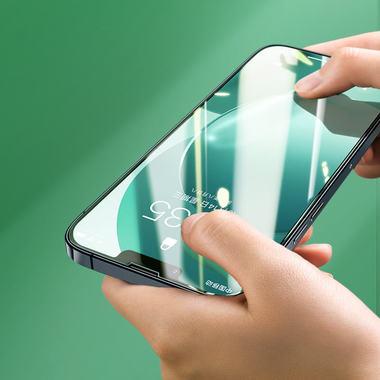 """Защитное стекло на iPhone 13 mini (5,4"""") KR Green Light - 0.15 мм.  2.5D скругление, фото №3"""
