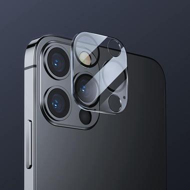 """Защитное стекло на камеру для iPhone 12 Pro (6,1"""") с черным кантом - 1шт., фото №3"""