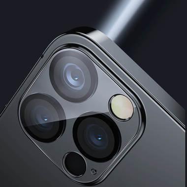 """Защитное стекло на камеру для iPhone 12 Pro (6,1"""") с черным кантом - 1шт., фото №4"""