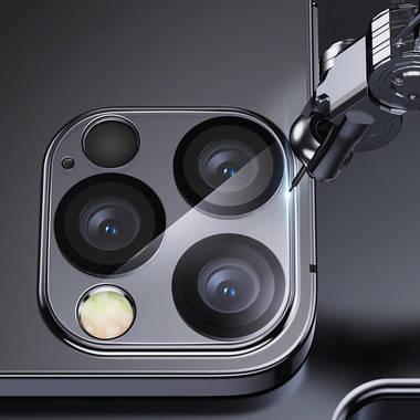 """Защитное стекло на камеру для iPhone 12 Pro (6,1"""") с черным кантом - 1шт., фото №5"""