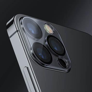 """Защитное стекло на камеру для iPhone 12 Pro (6,1"""") с черным кантом - 1шт., фото №6"""