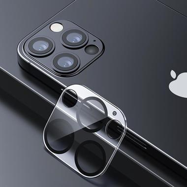 """Защитное стекло на камеру для iPhone 12 Pro (6,1"""") с черным кантом - 1шт., фото №1"""