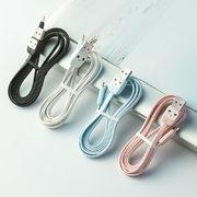 """Usams Lightning кабель - USB 2.0 - черный с """"рожицей"""", 1,2 м. (SJ231USB01) - фото 1"""