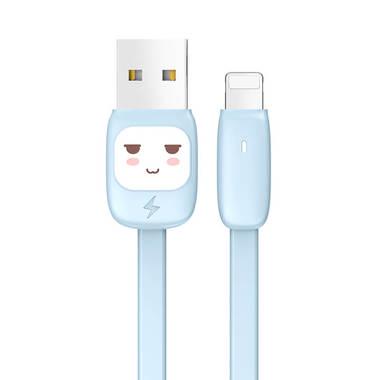 """Usams Lightning кабель - USB 2.0 - черный с """"рожицей"""", 1,2 м. (SJ231USB01), фото №2"""