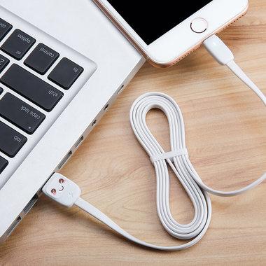 """Usams Lightning кабель - USB 2.0 - черный с """"рожицей"""", 1,2 м. (SJ231USB01), фото №4"""
