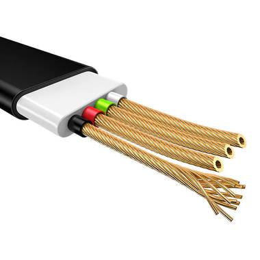 """Usams Lightning кабель - USB 2.0 - черный с """"рожицей"""", 1,2 м. (SJ231USB01), фото №5"""