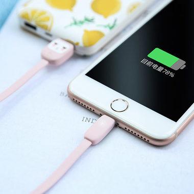"""Usams Lightning кабель - USB 2.0 - черный с """"рожицей"""", 1,2 м. (SJ231USB01), фото №6"""