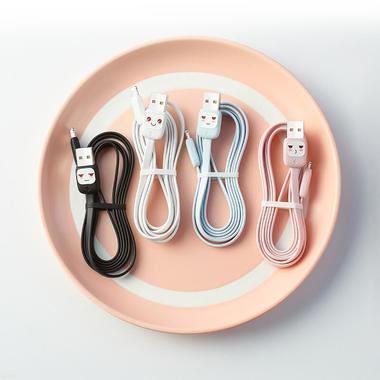 """Usams Lightning кабель - USB 2.0 - черный с """"рожицей"""", 1,2 м. (SJ231USB01), фото №7"""