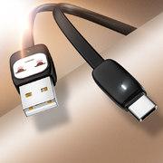 USB A - Type C гибкий кабель розового цвета 120 см (SJ232U8B04) - фото 1