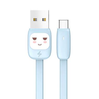 USB A - Type C гибкий кабель черного цвета 120 см (SJ232U8B01), фото №4