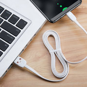 USB A - Type C гибкий кабель белого цвета 120 см (SJ232U8B02) - фото 1