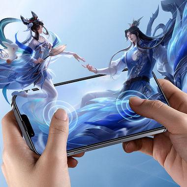 """Приватное (anti-spy) 3D защитное стекло на iPhone 13 Mini (5,4"""") Vpro 0,3 мм черная рамка, фото №4"""