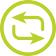 иконка - синхронизация данных зарядных кабелей айфонов