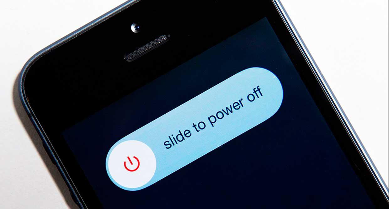 Выключить телефон - первый шаг