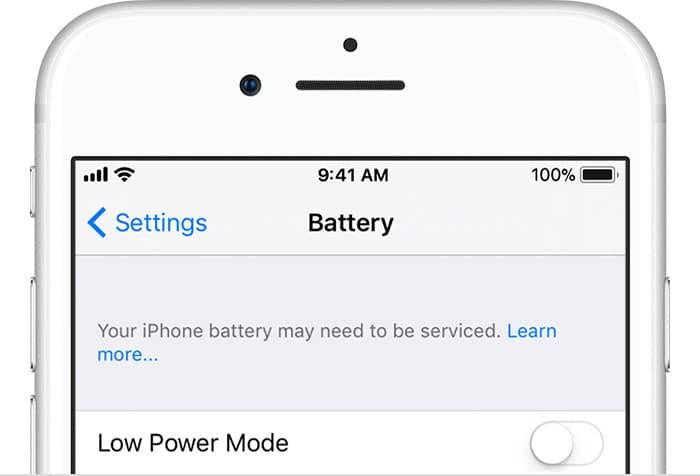проверяем заряд и износ аккумулятора через настройки айфона