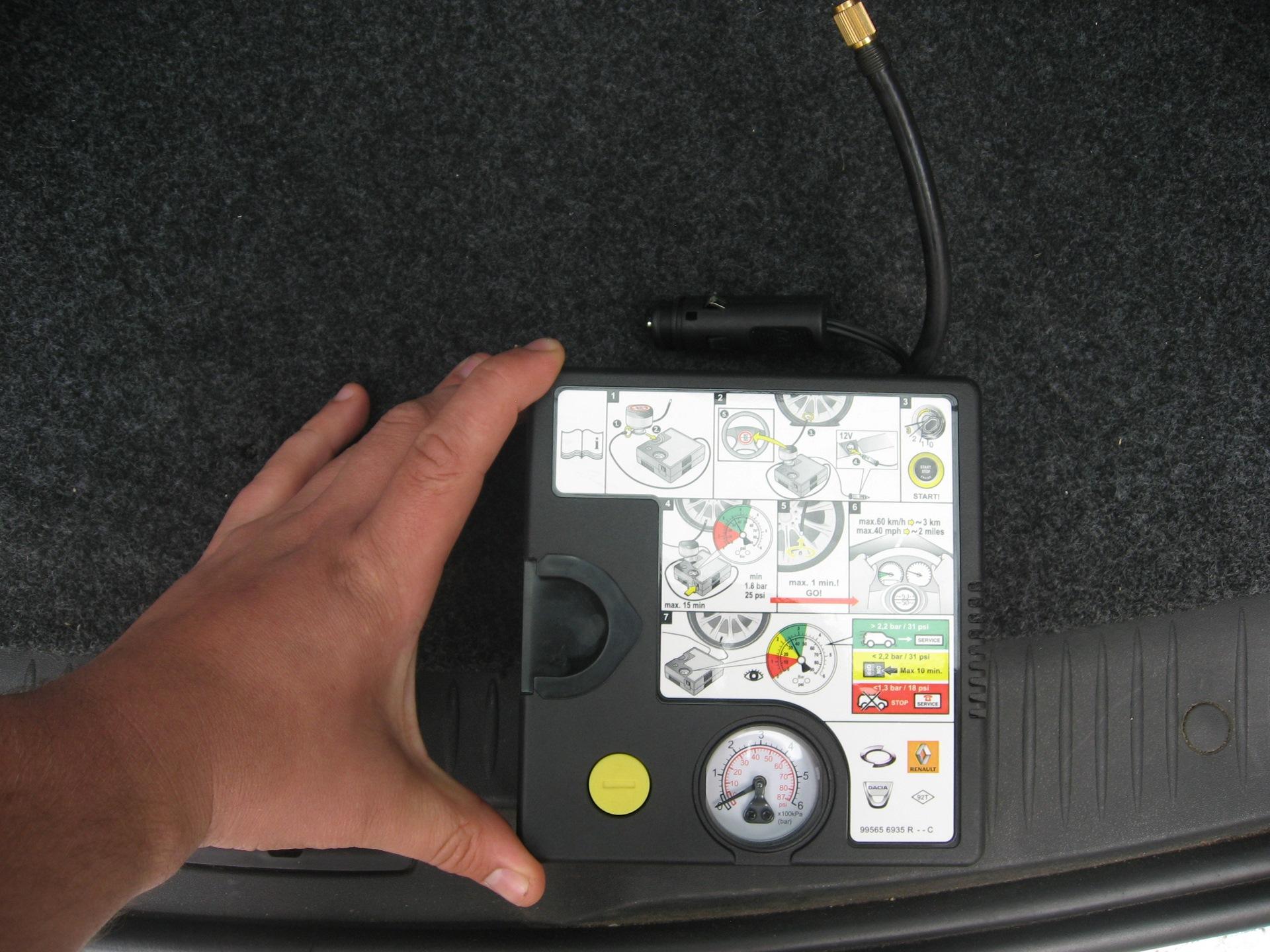 фото компрессора для шин в автомобиле поможет высушить айфон